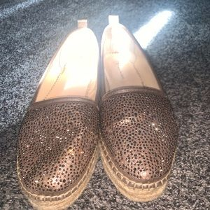 Rose-gold shoes